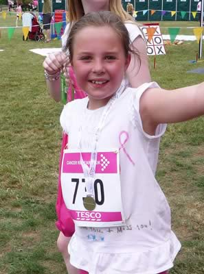 Bethany Rose at Race for Life 2010