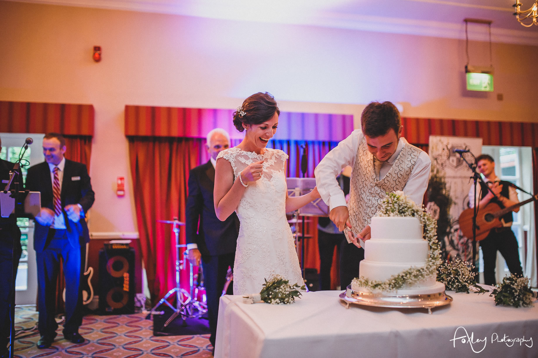 Rebecca and Dan Wedding at Preston Marriott Hotel 150