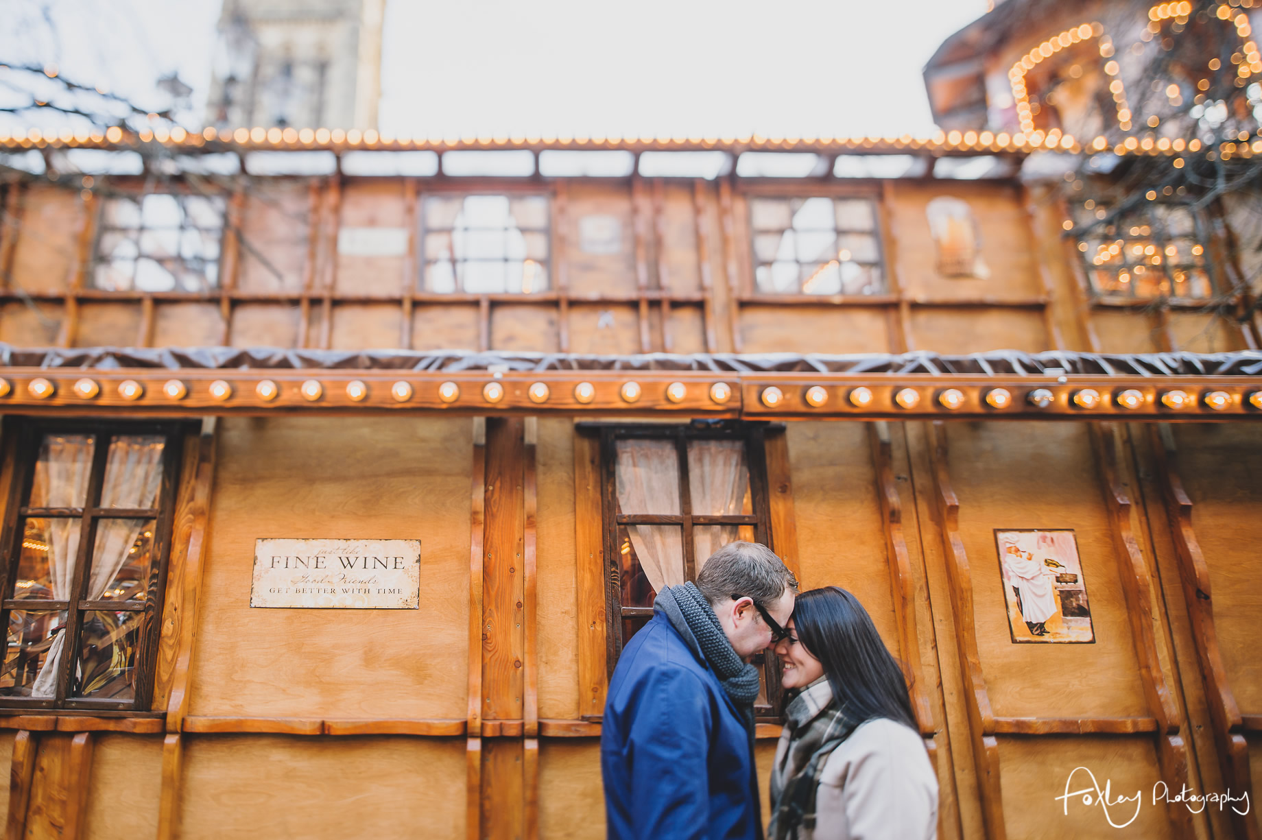 Angela and Andrew's Pre-Wedding Shoot at Manchester Christmas Markets 003