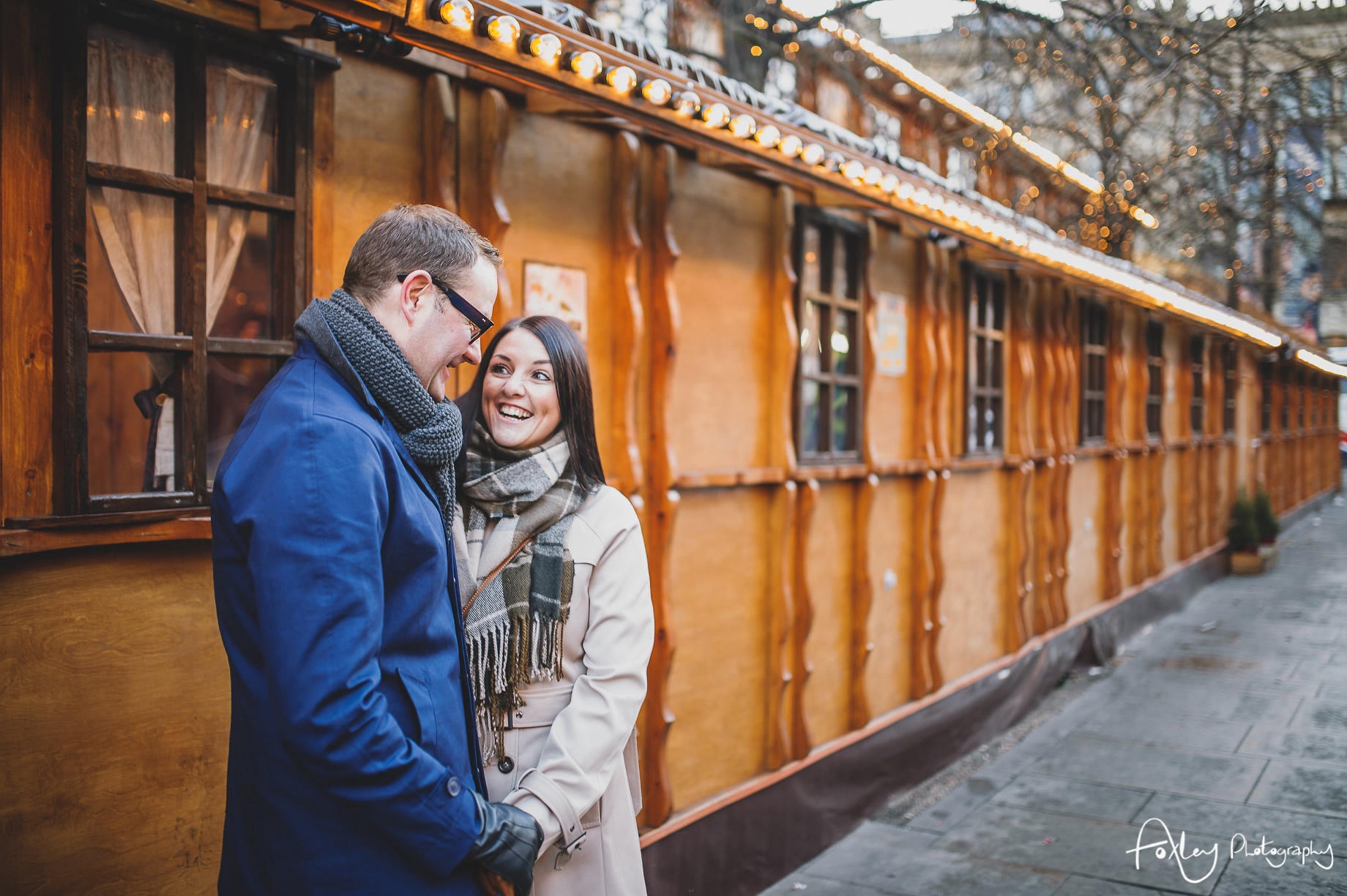 Angela and Andrew's Pre-Wedding Shoot at Manchester Christmas Markets 007