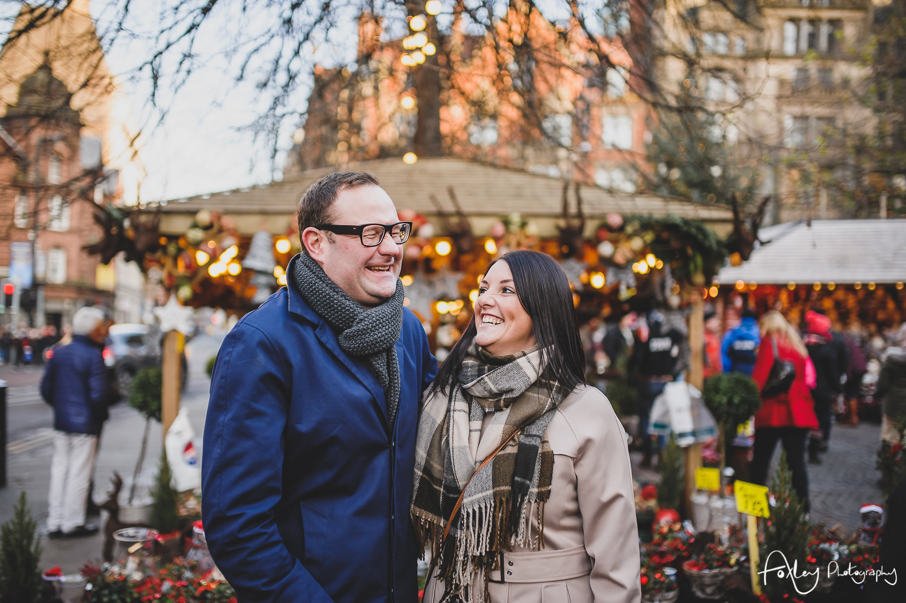 Angela and Andrew's Pre-Wedding Shoot at Manchester Christmas Markets 008