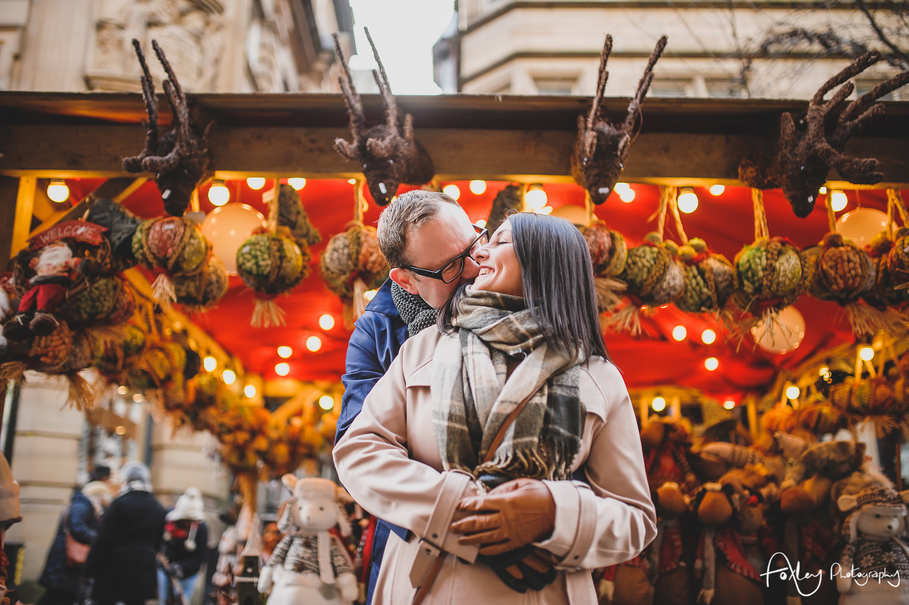 Angela and Andrew's Pre-Wedding Shoot at Manchester Christmas Markets 012