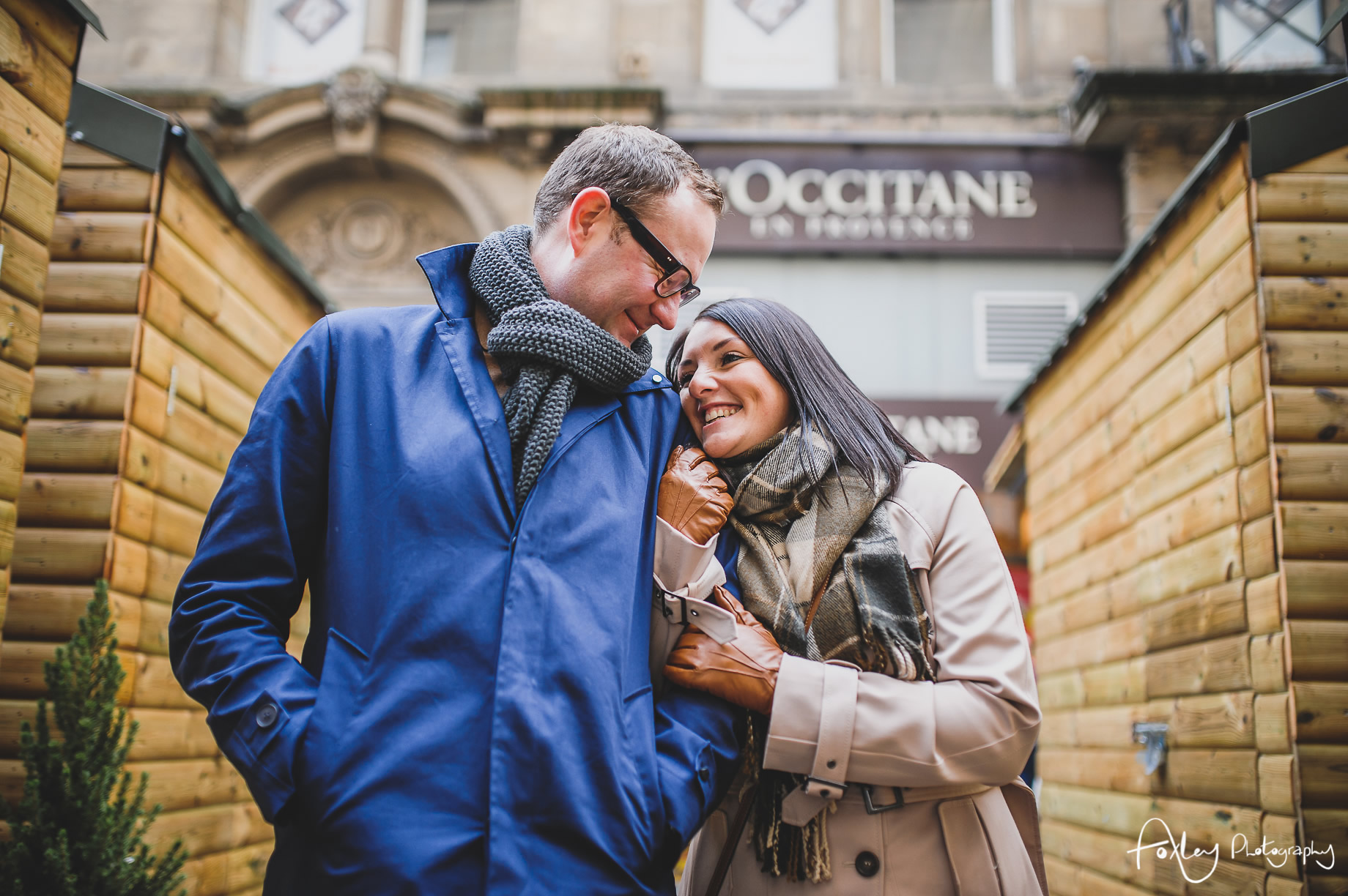 Angela and Andrew's Pre-Wedding Shoot at Manchester Christmas Markets 019