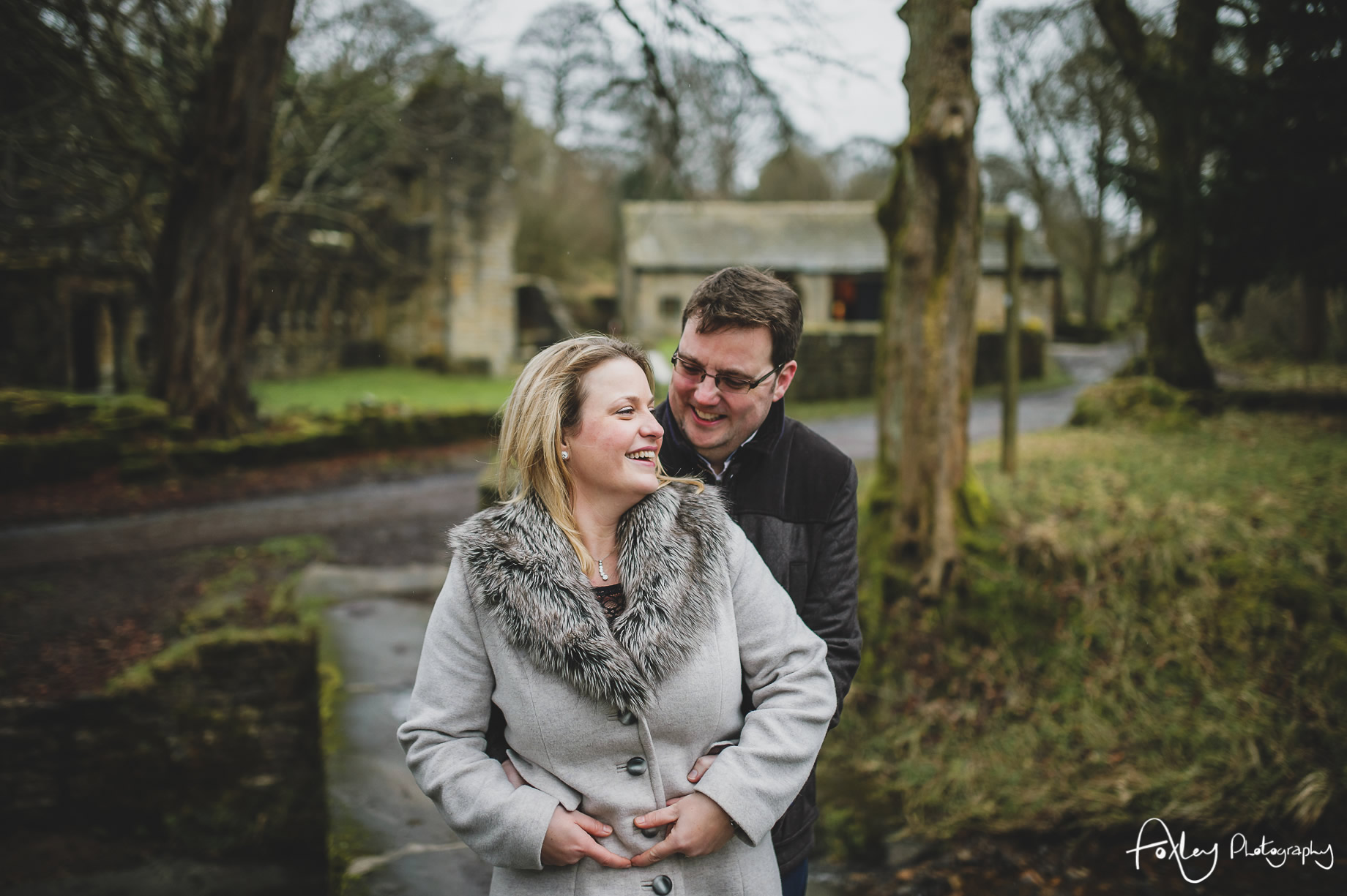 Rebecca and Paul's Pre-Wedding Shoot at Wycoller Country Park 019