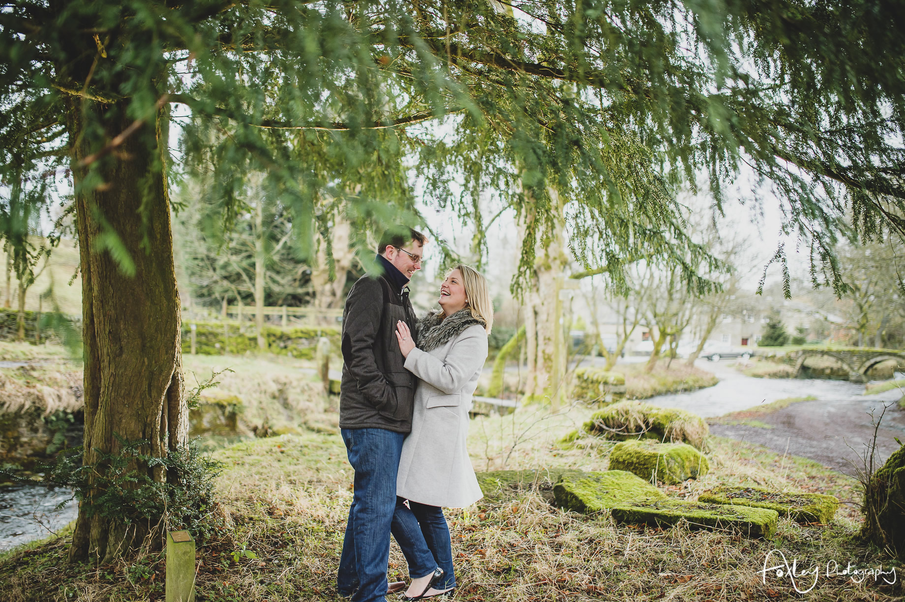 Rebecca and Paul's Pre-Wedding Shoot at Wycoller Country Park 023