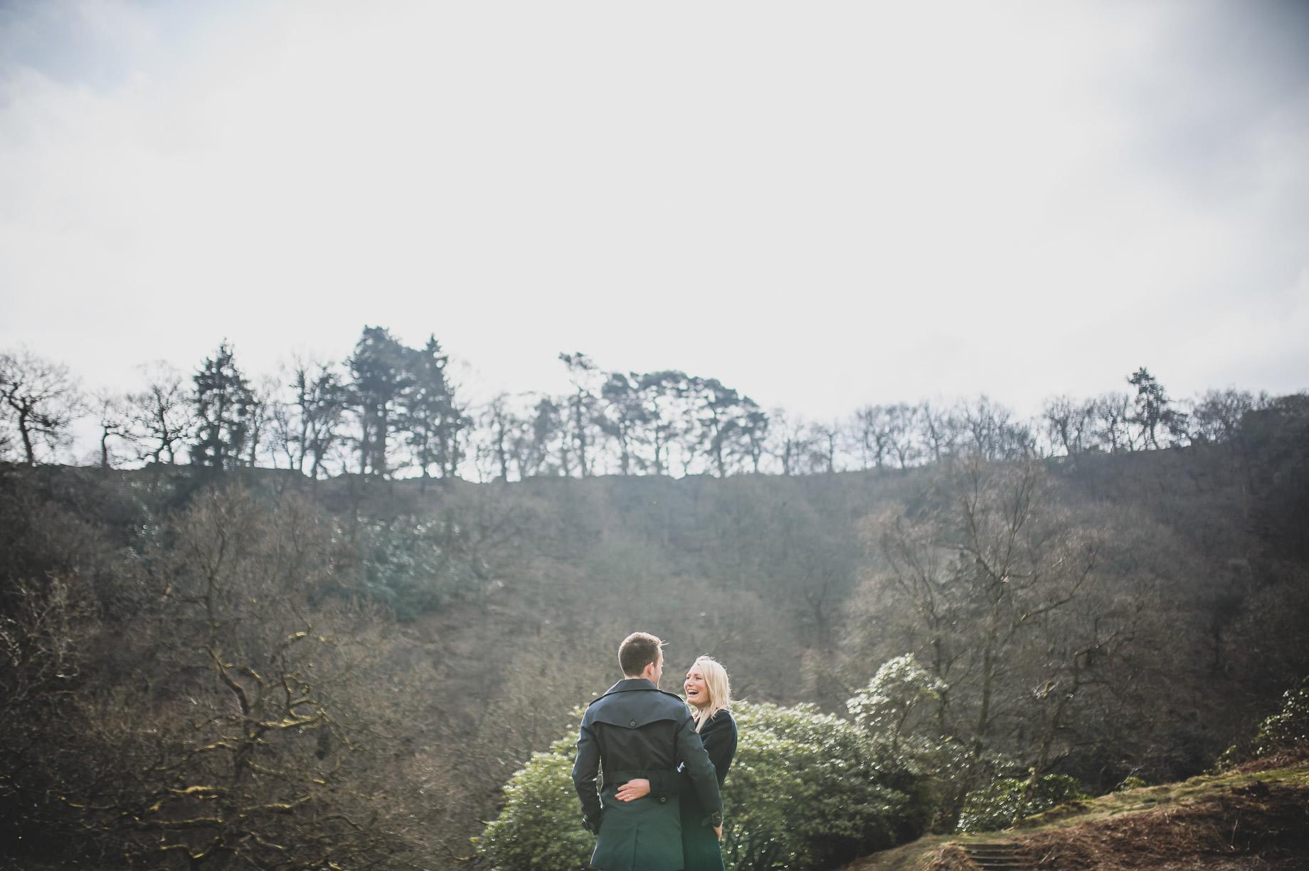 Rachel and Christian Pre-Wedding Shoot at Errwood Hall Ruins 012