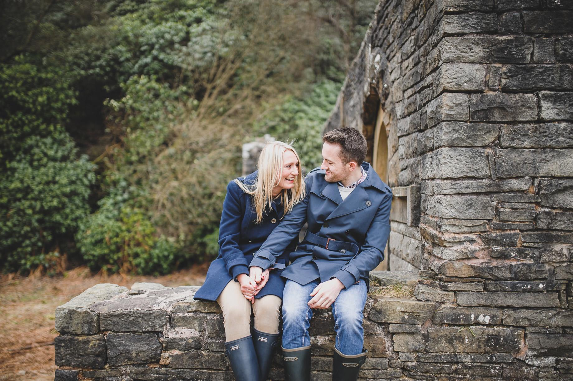 Rachel and Christian Pre-Wedding Shoot at Errwood Hall Ruins 016