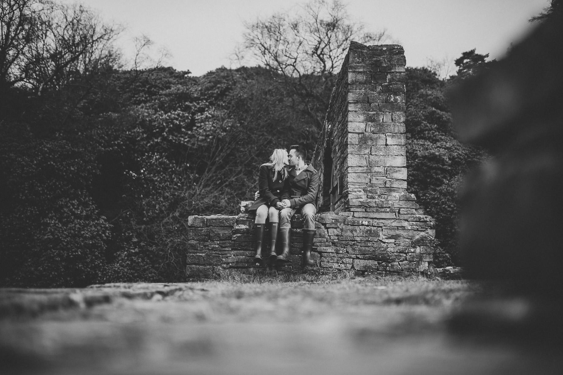 Rachel and Christian Pre-Wedding Shoot at Errwood Hall Ruins 017