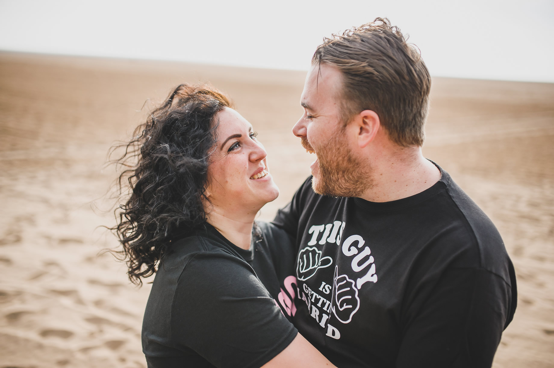 Becky and John's Pre-Wedding Shoot on Lytham St Annes Beach 003