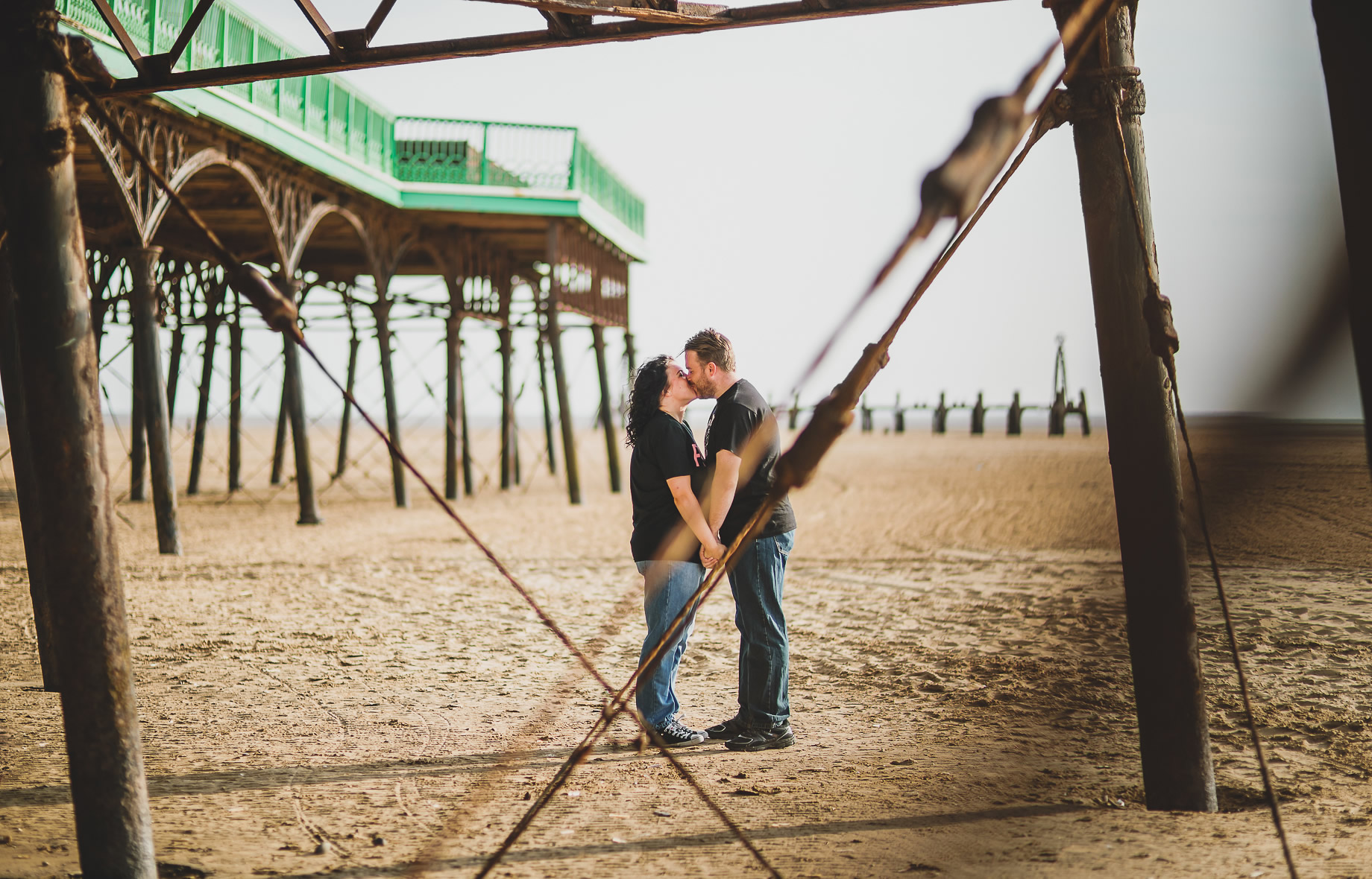 Becky and John's Pre-Wedding Shoot on Lytham St Annes Beach 004