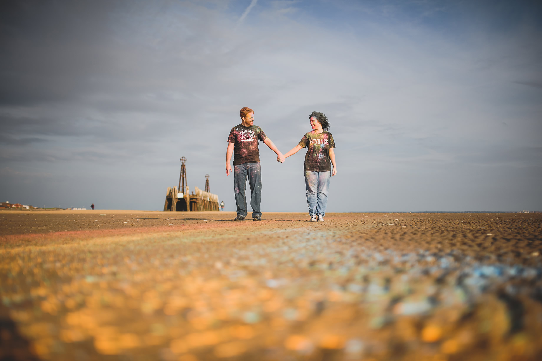 Becky and John's Pre-Wedding Shoot on Lytham St Annes Beach 013