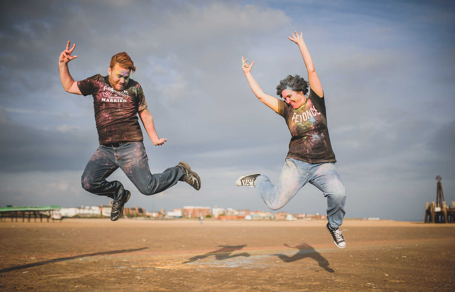 Becky and John's Pre-Wedding Shoot on Lytham St Annes Beach 014