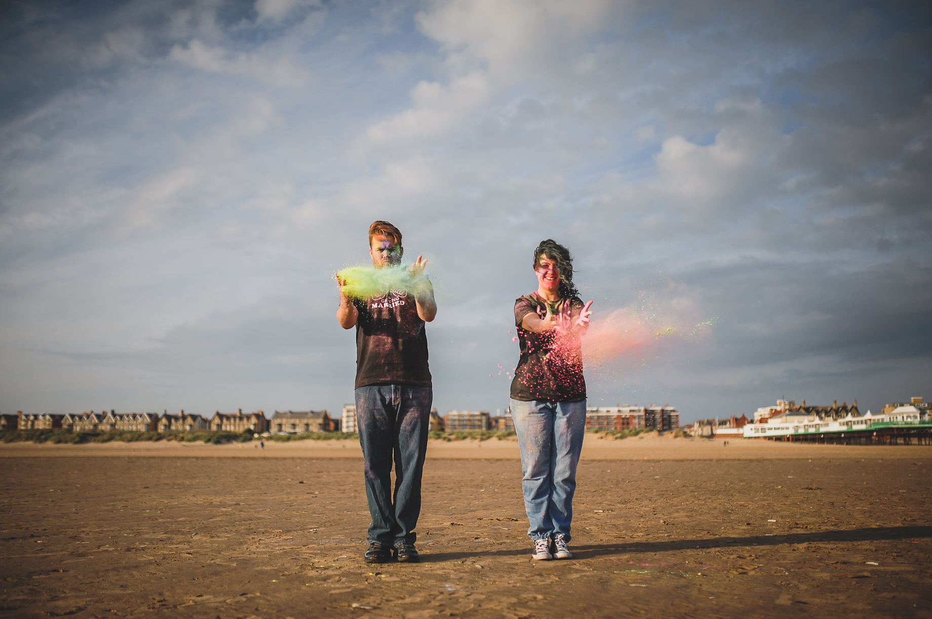 Becky and John's Pre-Wedding Shoot on Lytham St Annes Beach 015
