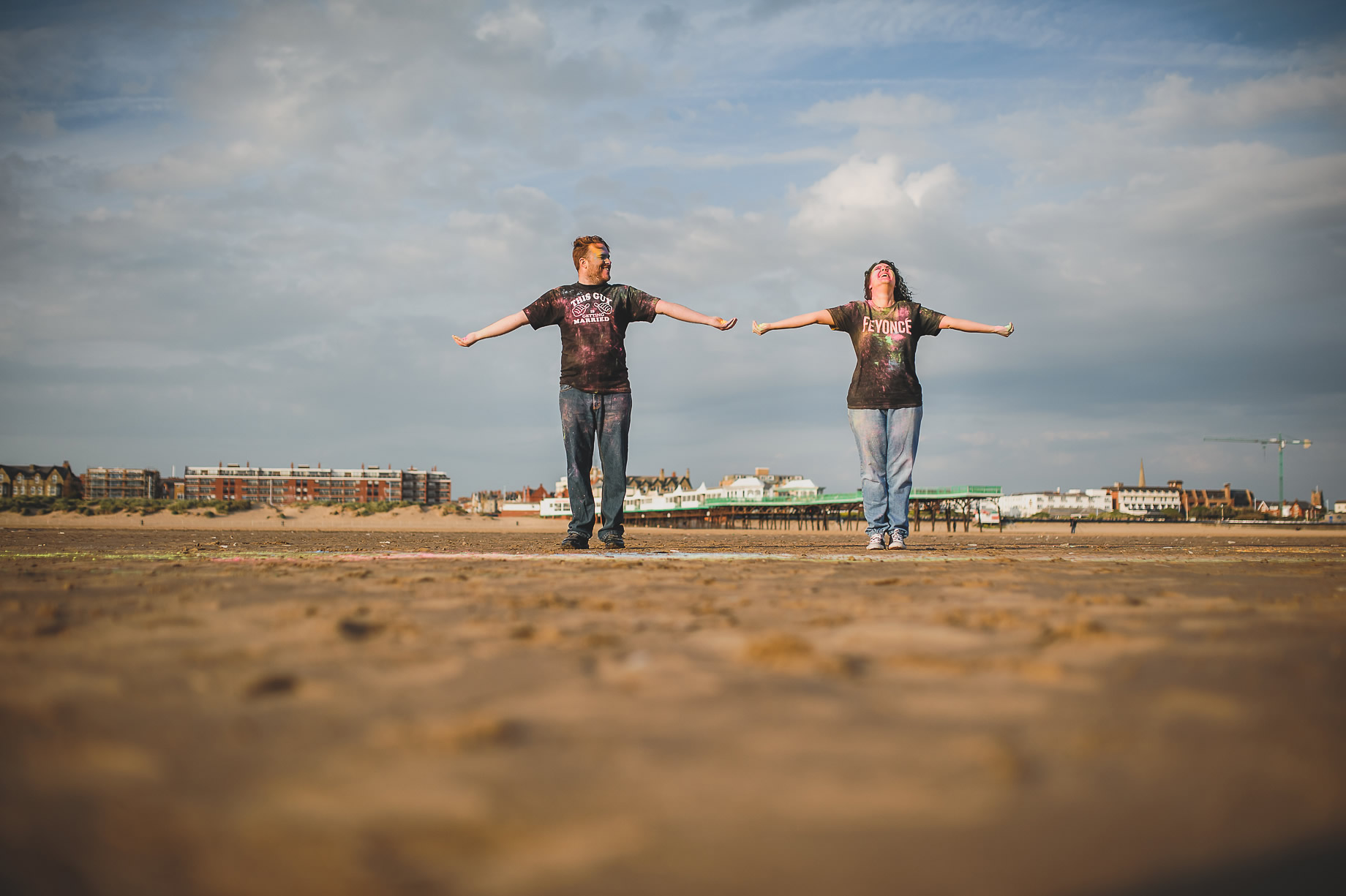 Becky and John's Pre-Wedding Shoot on Lytham St Annes Beach 017
