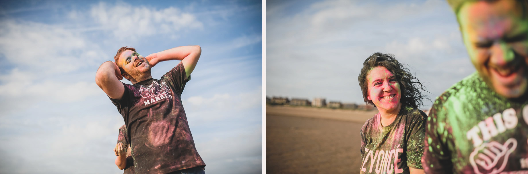 Becky and John's Pre-Wedding Shoot on Lytham St Annes Beach 018