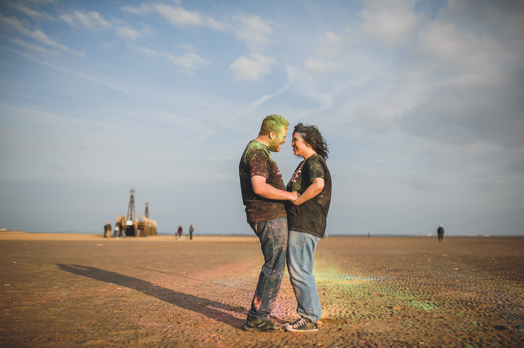 Becky and John's Pre-Wedding Shoot on Lytham St Annes Beach 026