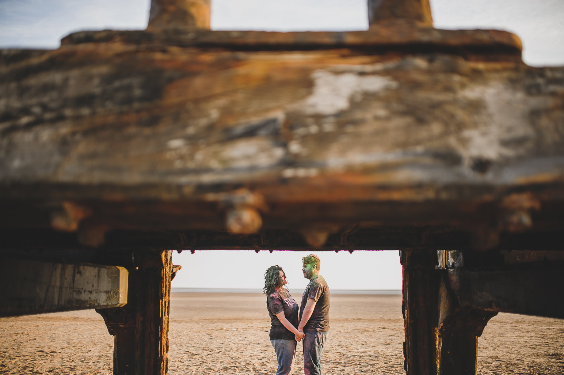 Becky and John's Pre-Wedding Shoot on Lytham St Annes Beach 032