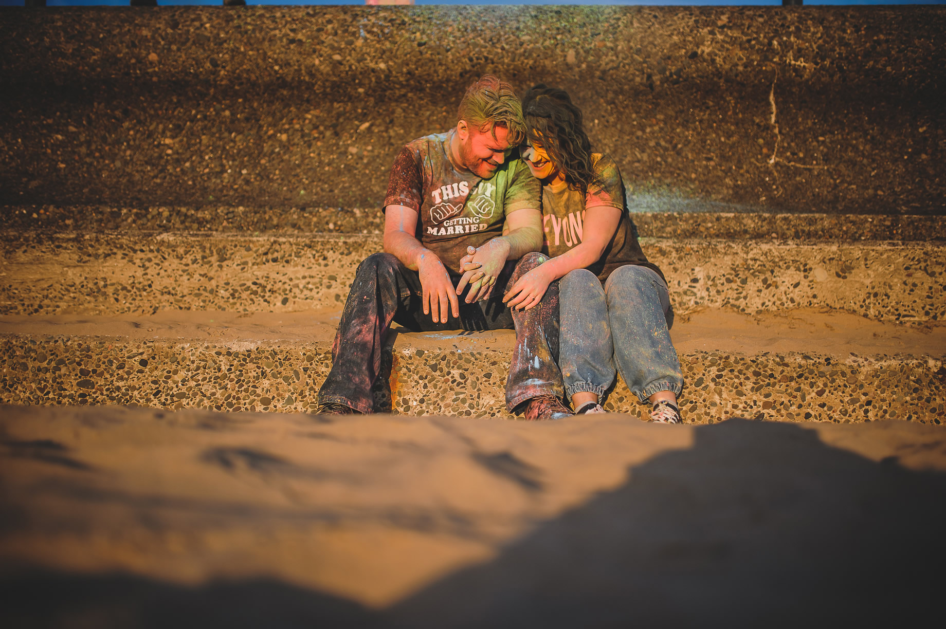 Becky and John's Pre-Wedding Shoot on Lytham St Annes Beach 037