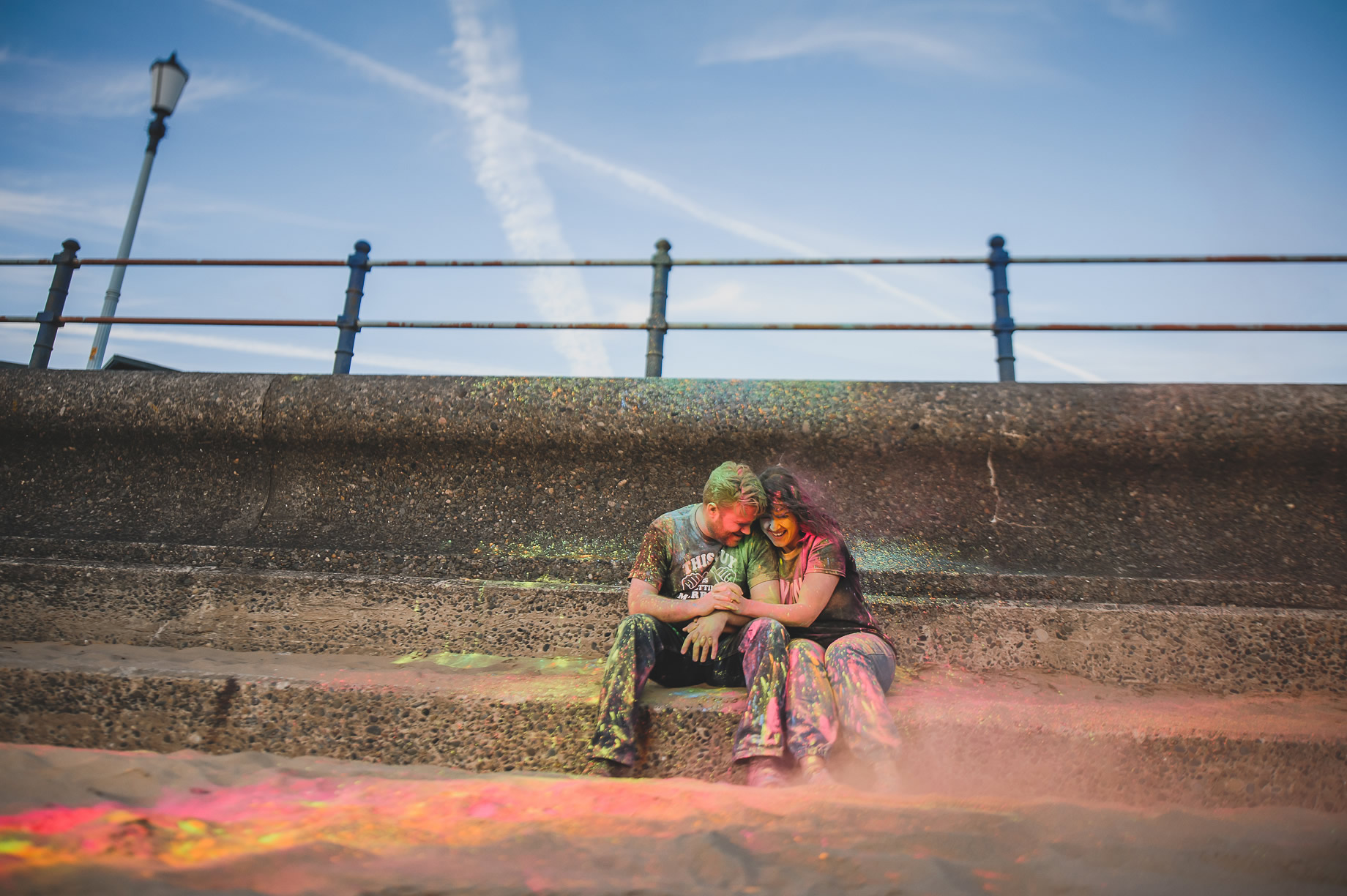 Becky and John's Pre-Wedding Shoot on Lytham St Annes Beach 038