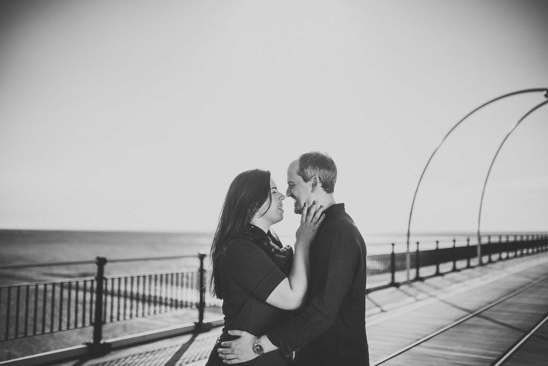 Jess and Andrew's Portrait Shoot on Southport Pier 003