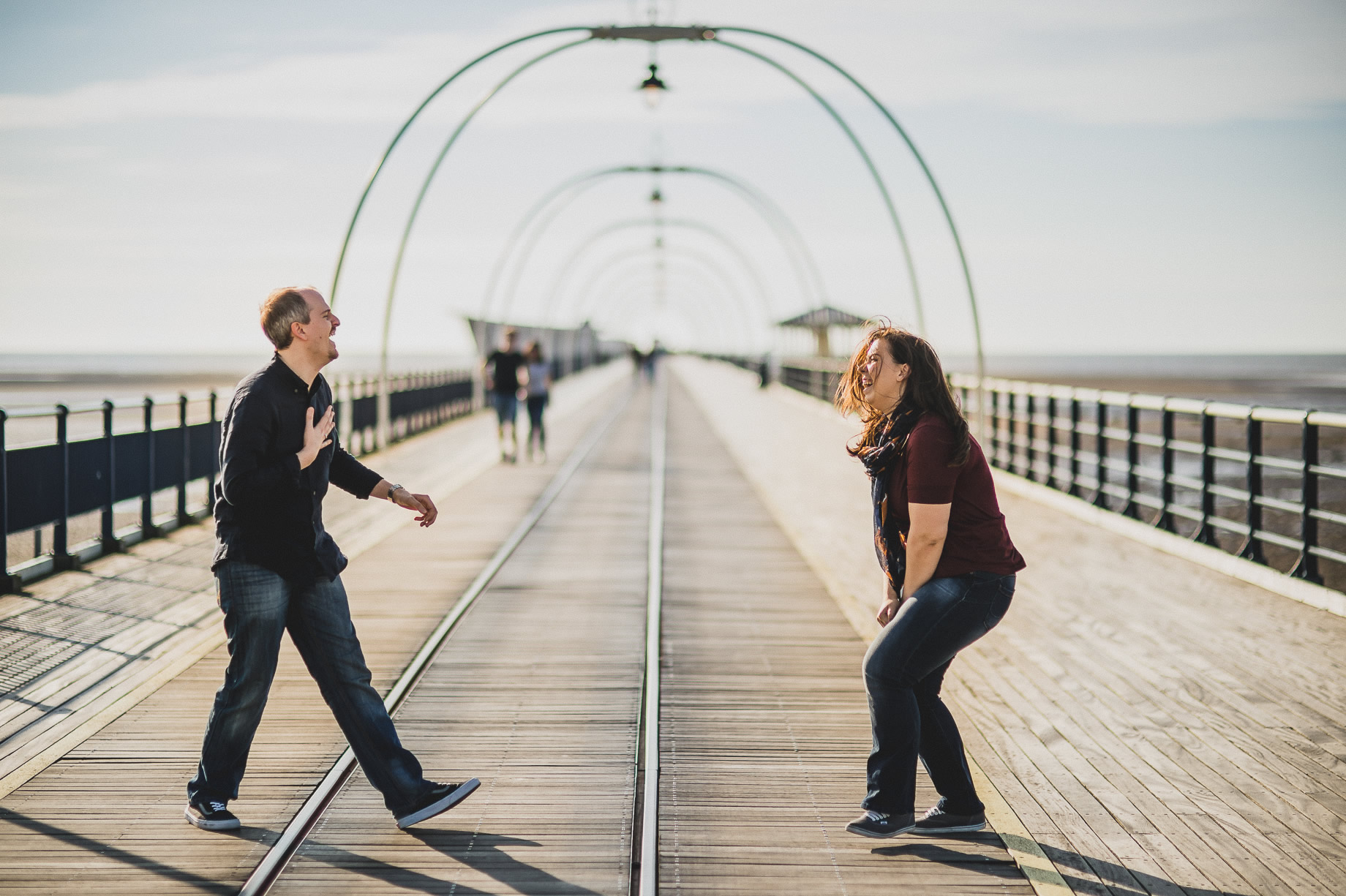 Jess and Andrew's Portrait Shoot on Southport Pier 004