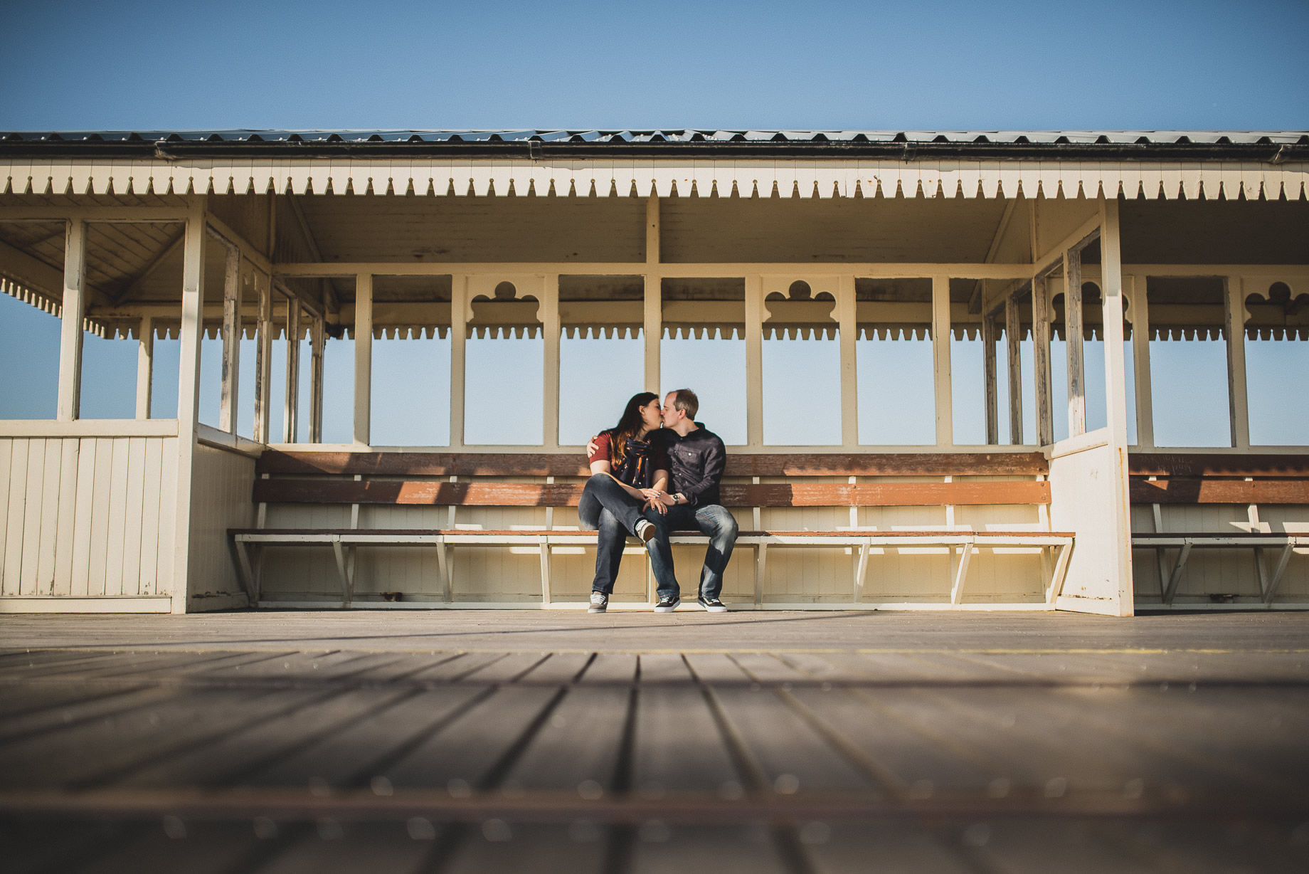 Jess and Andrew's Portrait Shoot on Southport Pier 005