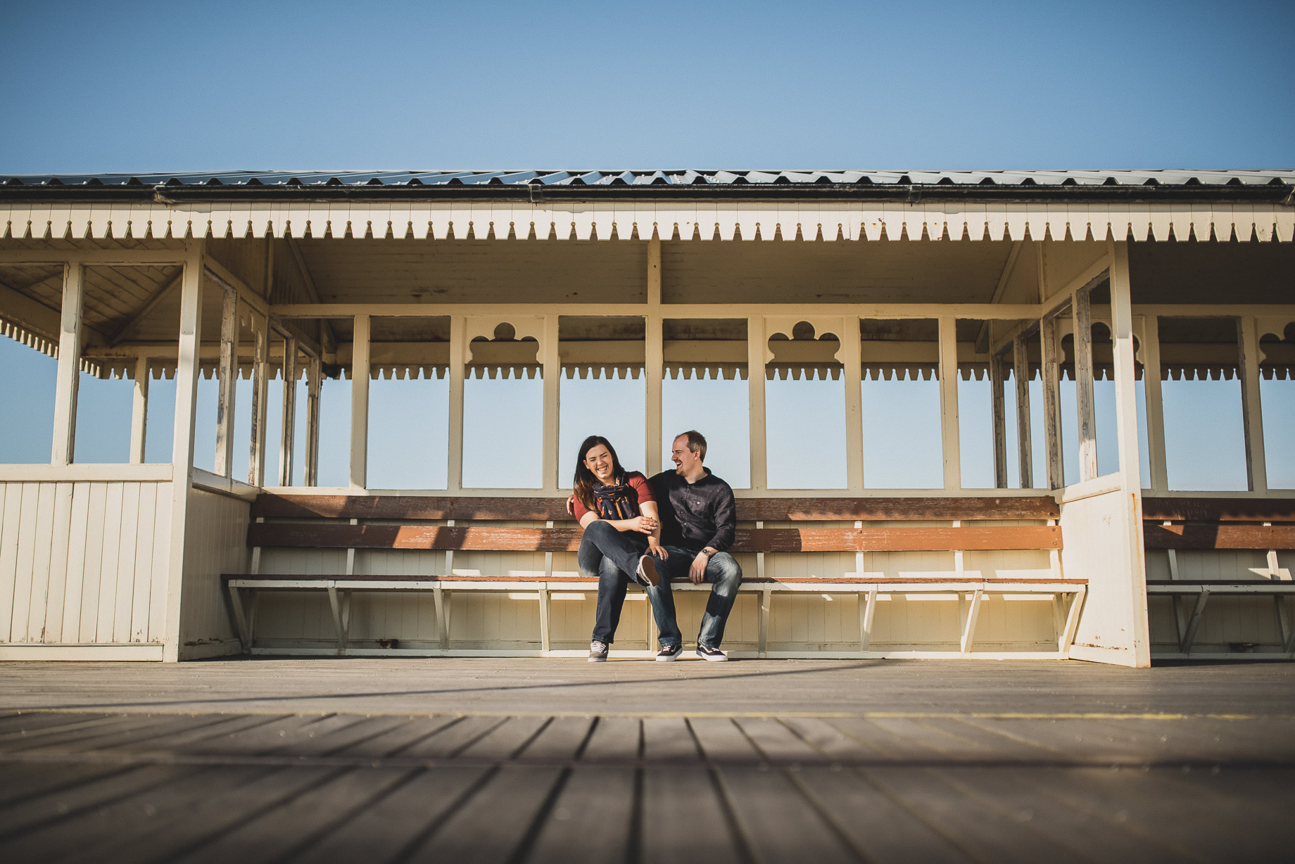 Jess and Andrew's Portrait Shoot on Southport Pier 006