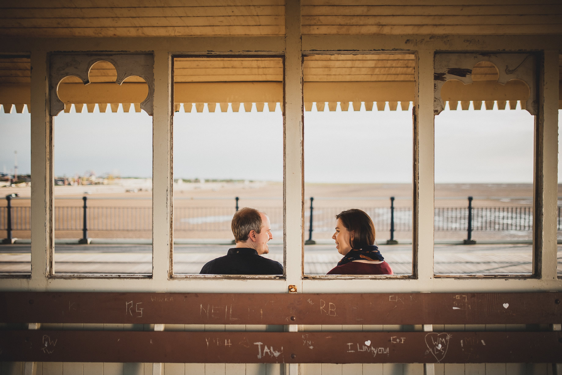 Jess and Andrew's Portrait Shoot on Southport Pier 007