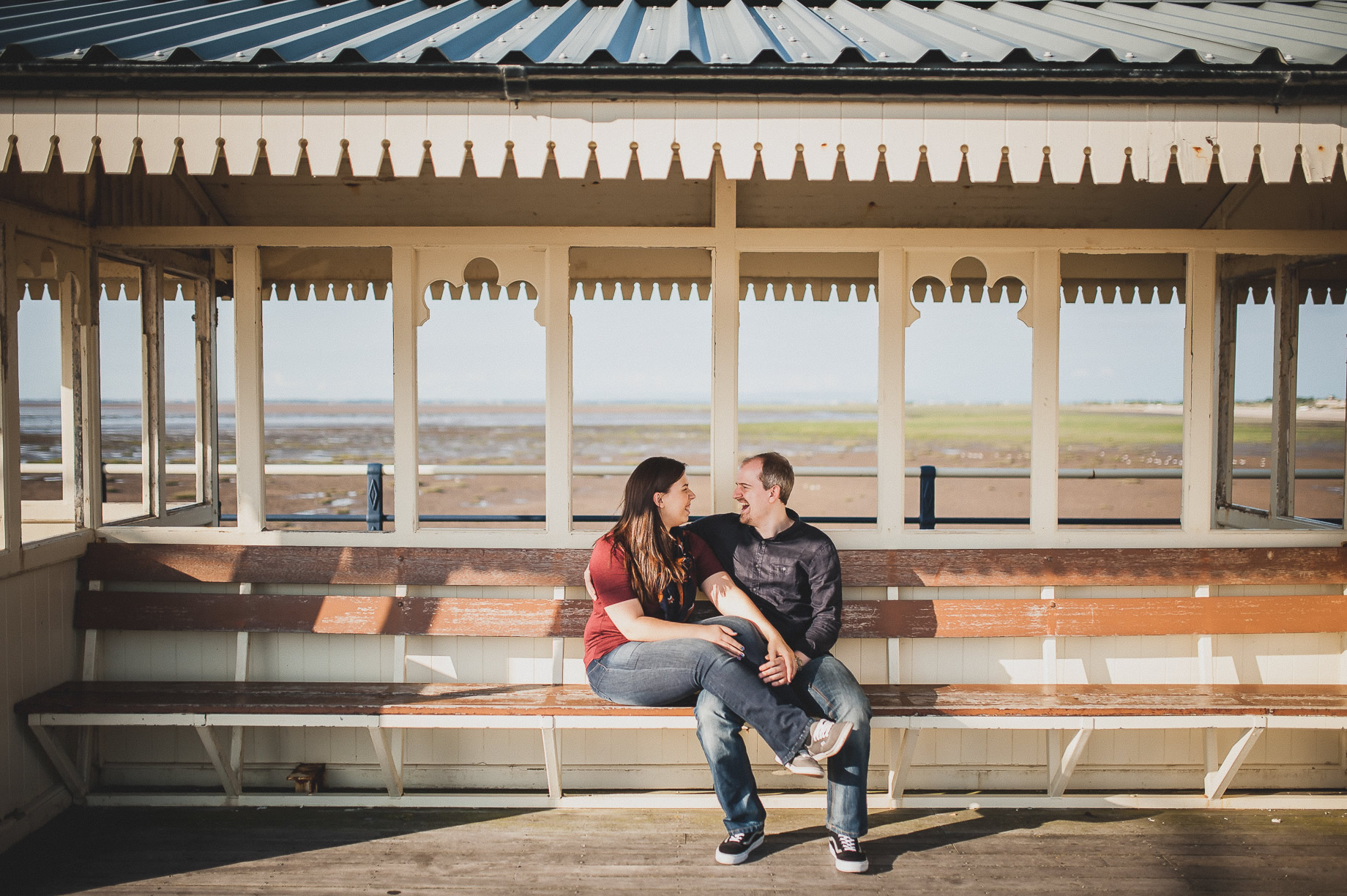 Jess and Andrew's Portrait Shoot on Southport Pier 009