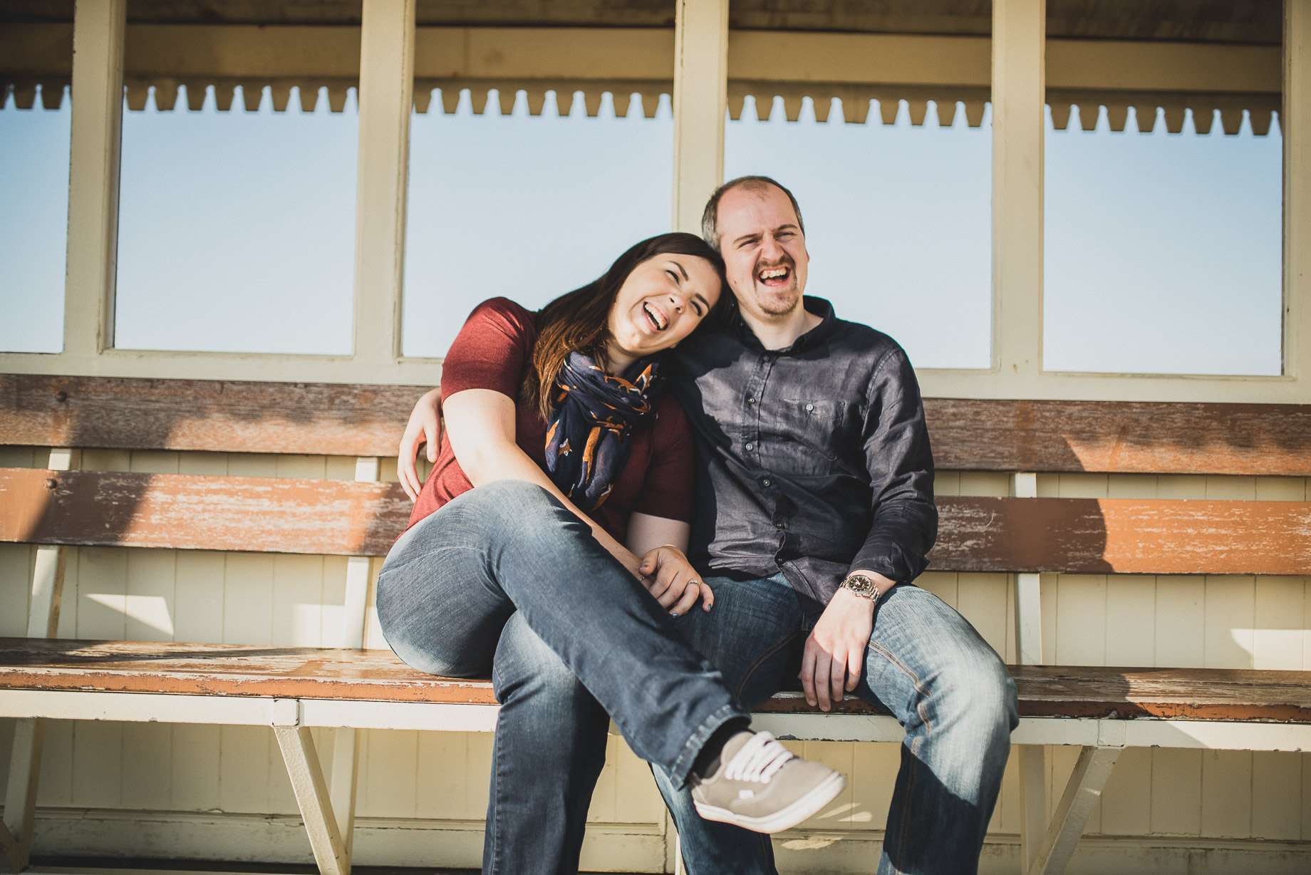Jess and Andrew's Portrait Shoot on Southport Pier 011