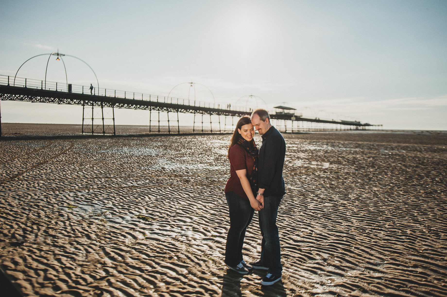 Jess and Andrew's Portrait Shoot on Southport Pier 013
