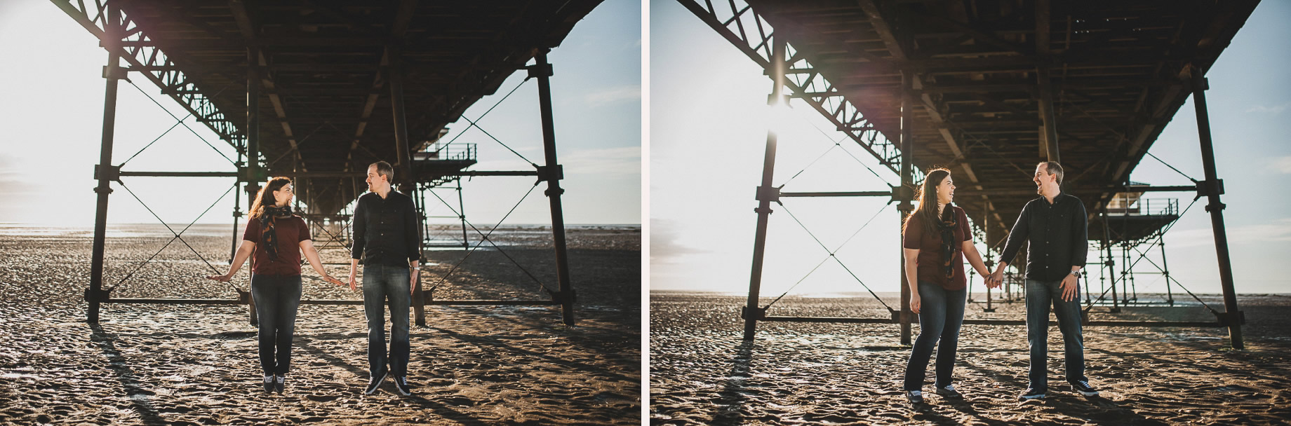 Jess and Andrew's Portrait Shoot on Southport Pier 017