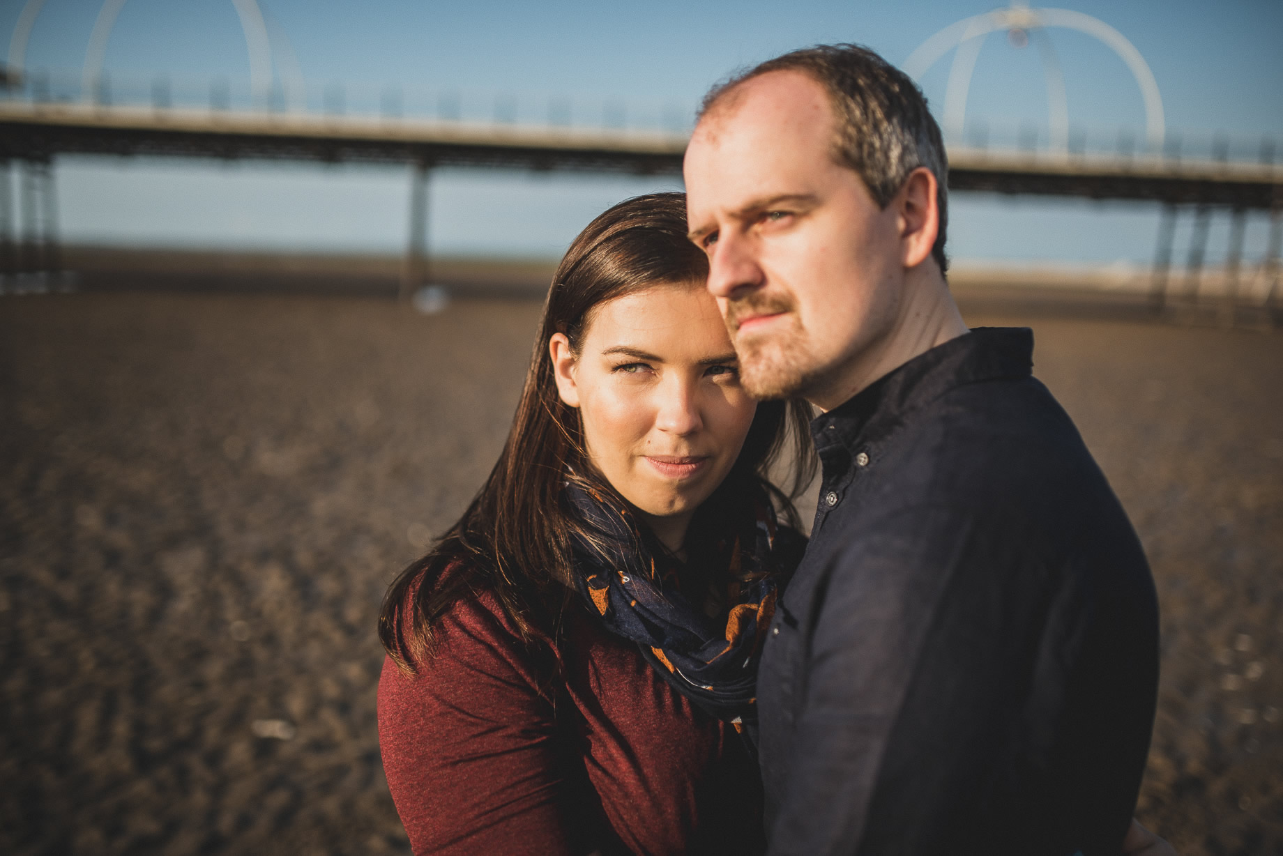 Jess and Andrew's Portrait Shoot on Southport Pier 018