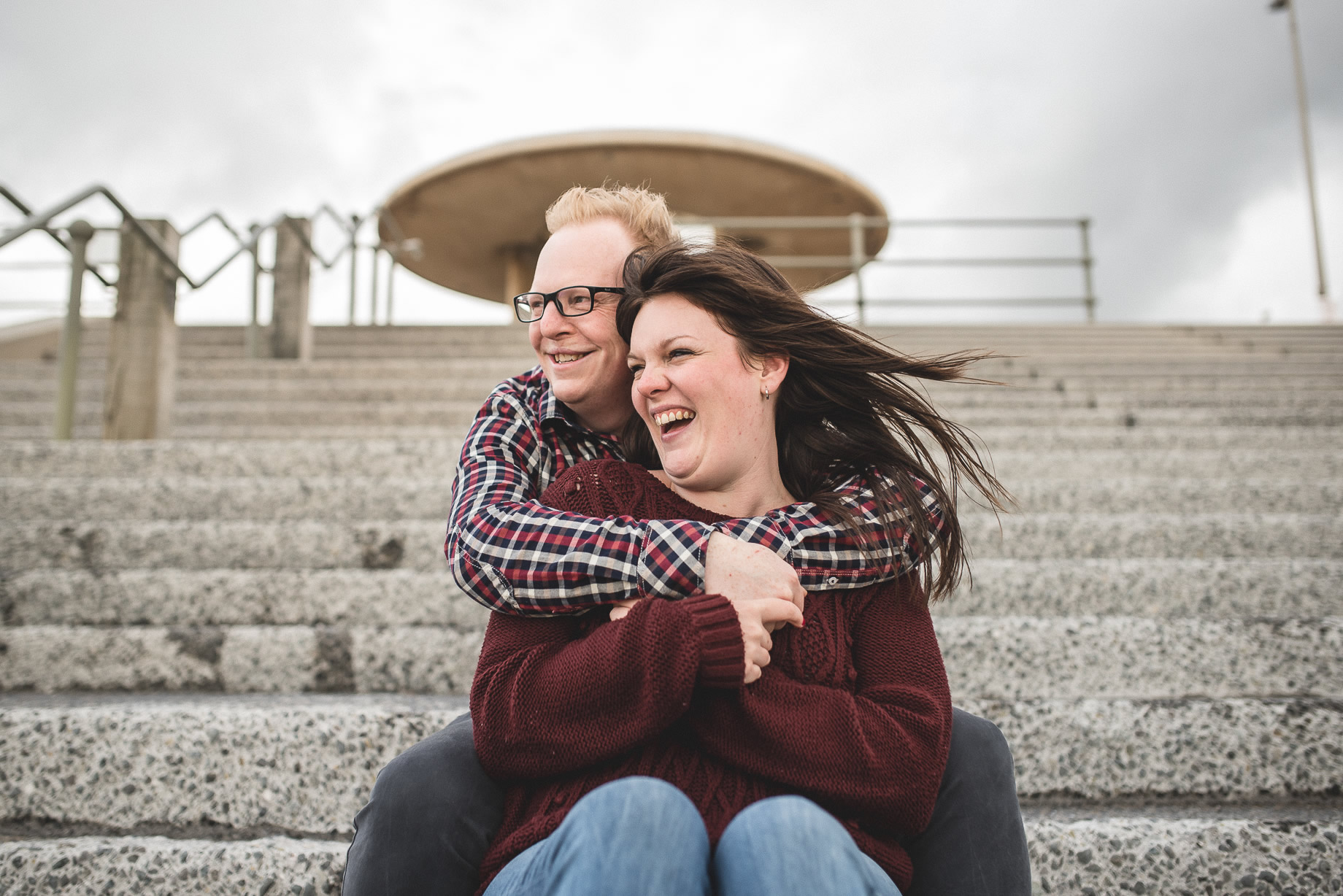 Laura and Graham Portrait Shoot on Cleveleys Promenade 001