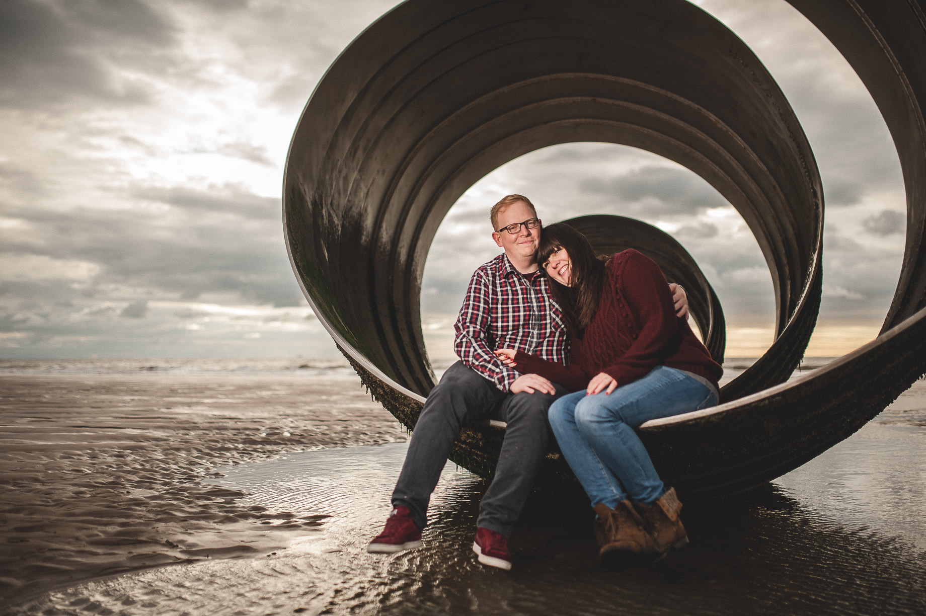 Laura and Graham Portrait Shoot on Cleveleys Promenade 009