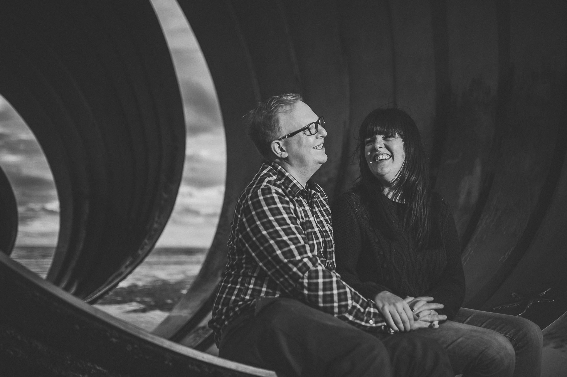 Laura and Graham Portrait Shoot on Cleveleys Promenade 010
