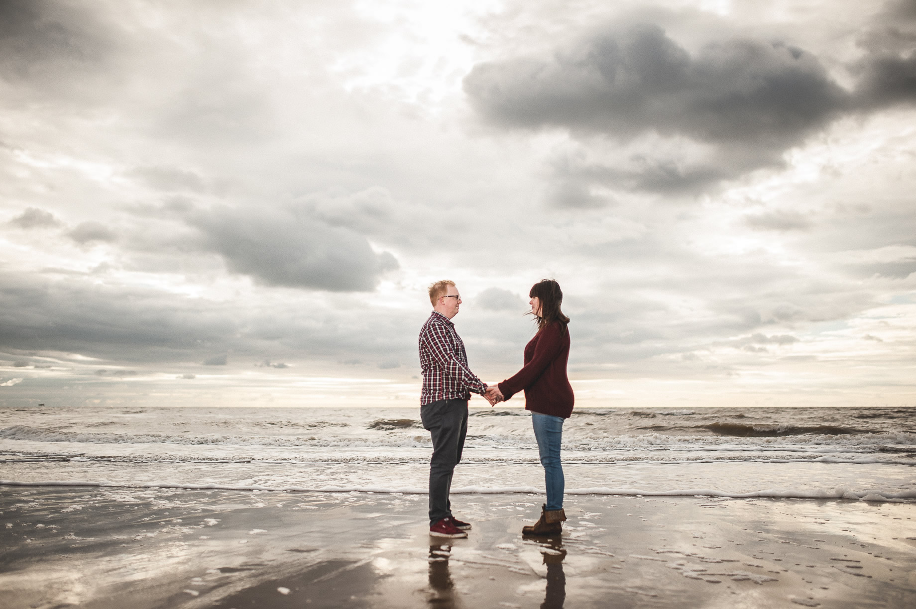 Laura and Graham Portrait Shoot on Cleveleys Promenade 012