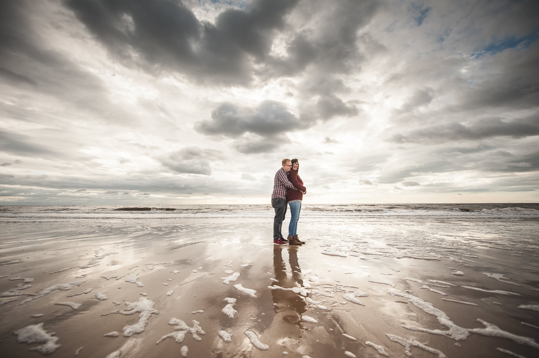 Laura and Graham Portrait Shoot on Cleveleys Promenade 014