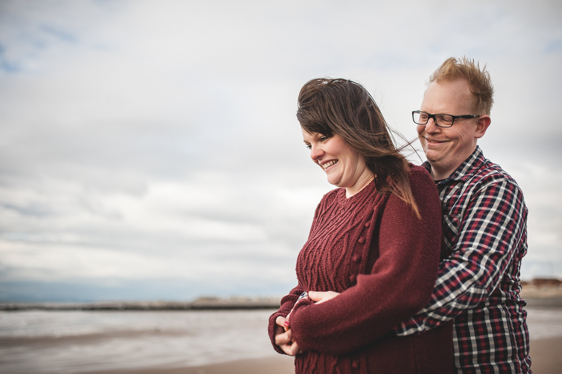 Laura and Graham Portrait Shoot on Cleveleys Promenade 016