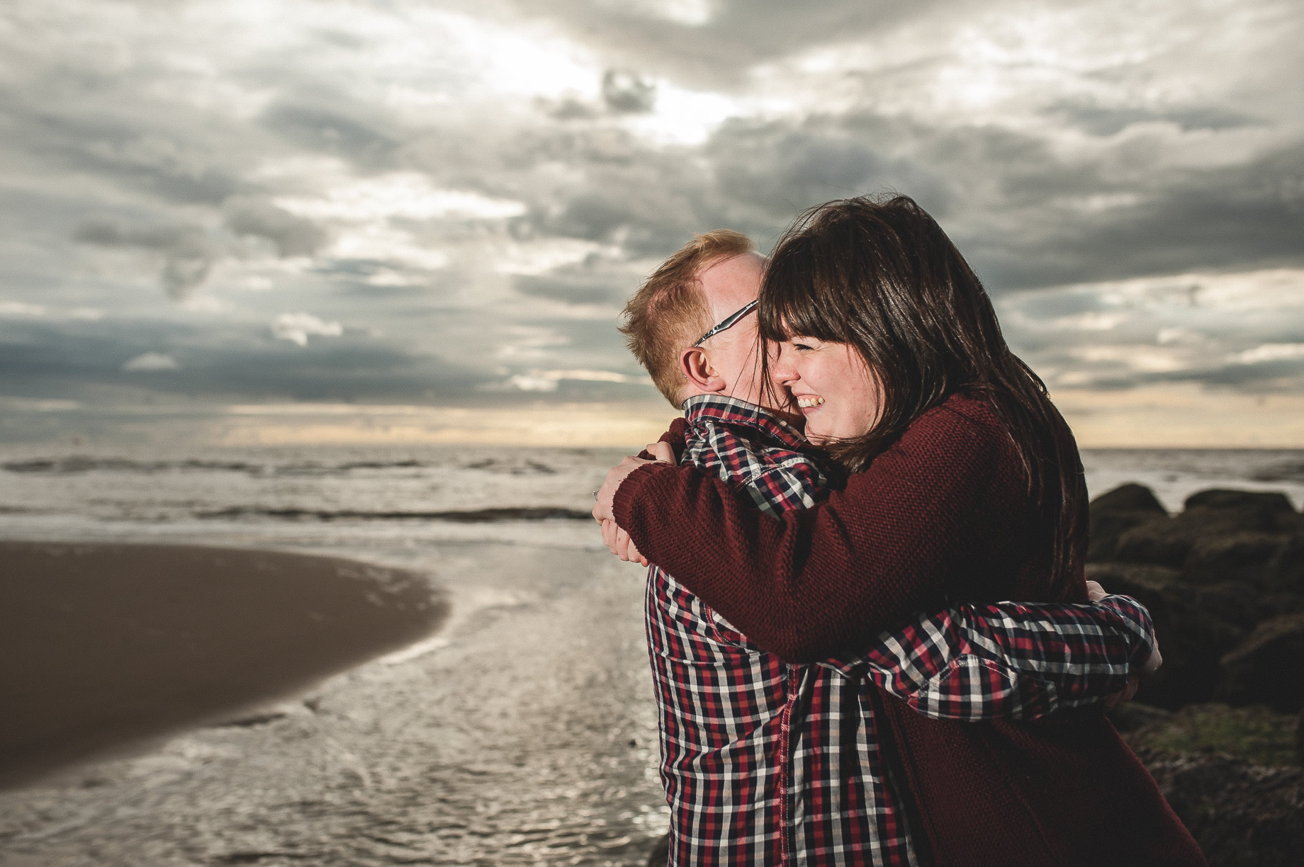 Laura and Graham Portrait Shoot on Cleveleys Promenade 017