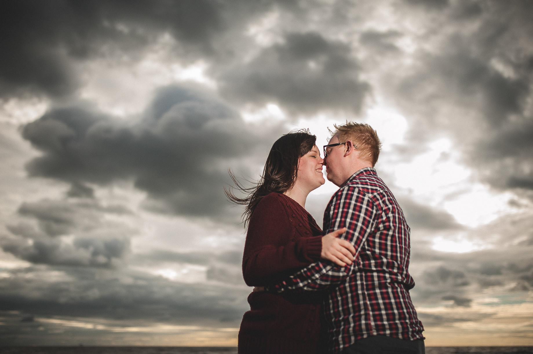 Laura and Graham Portrait Shoot on Cleveleys Promenade 018