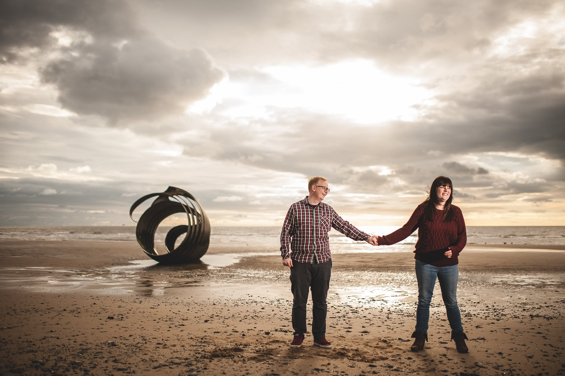 Laura and Graham Portrait Shoot on Cleveleys Promenade 021
