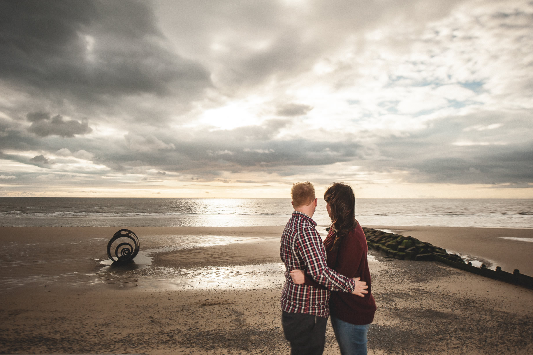 Laura and Graham Portrait Shoot on Cleveleys Promenade 024