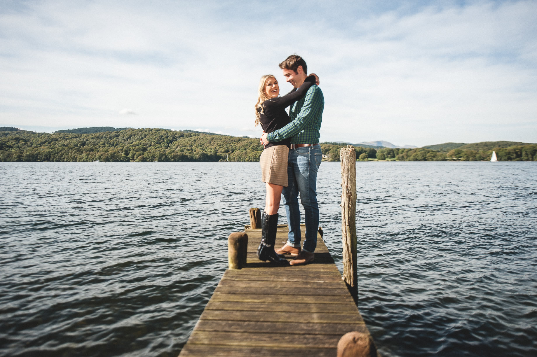 Becky and James' Pre-Wedding Shoot on Lake Windermere 005