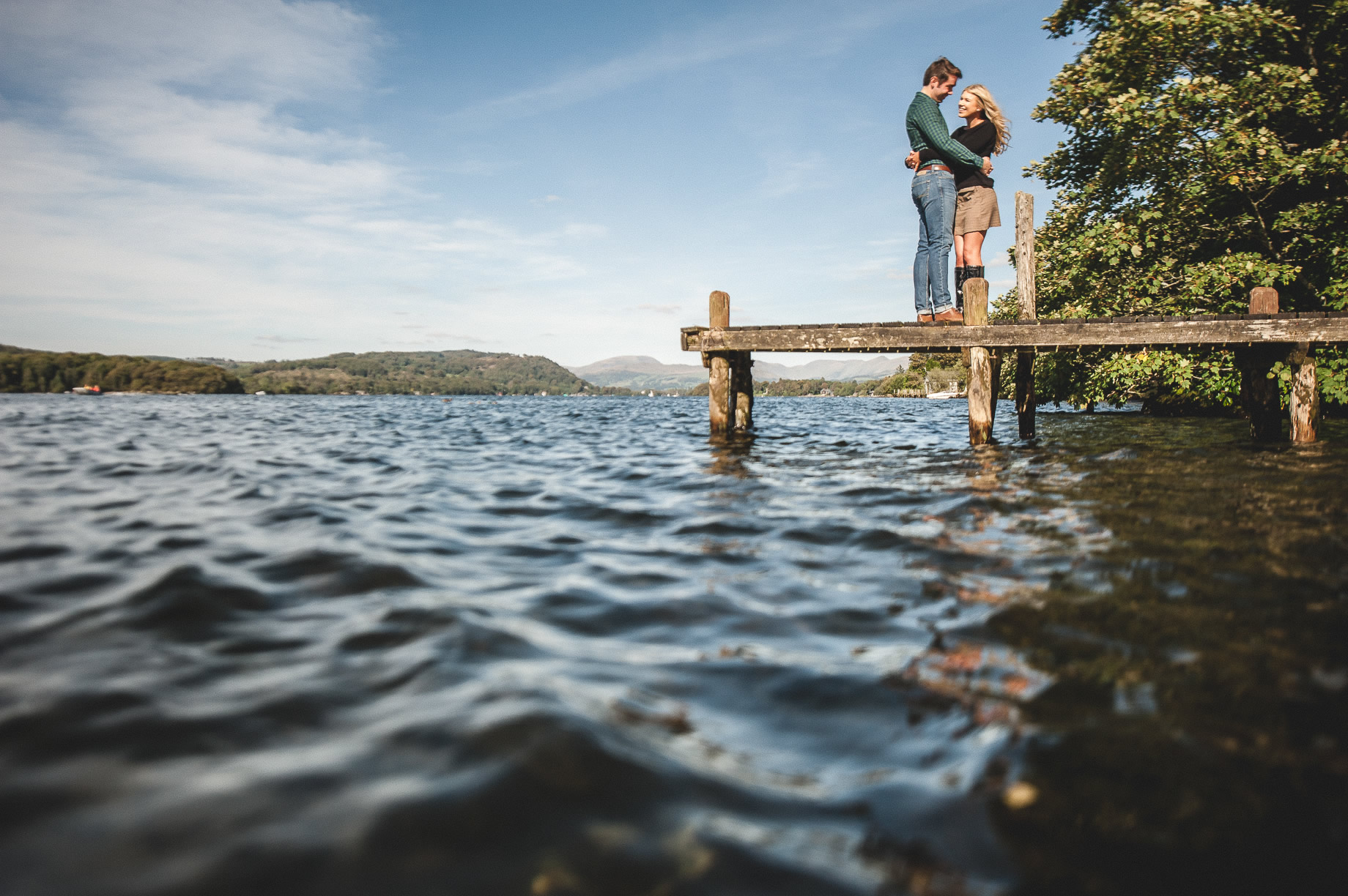 Becky and James' Pre-Wedding Shoot on Lake Windermere 006