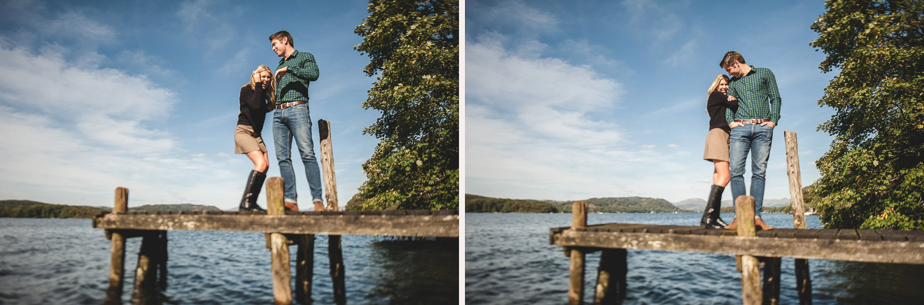 Becky and James' Pre-Wedding Shoot on Lake Windermere 007