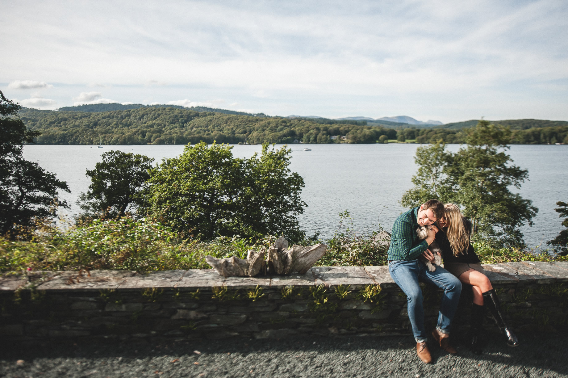 Becky and James' Pre-Wedding Shoot on Lake Windermere 024