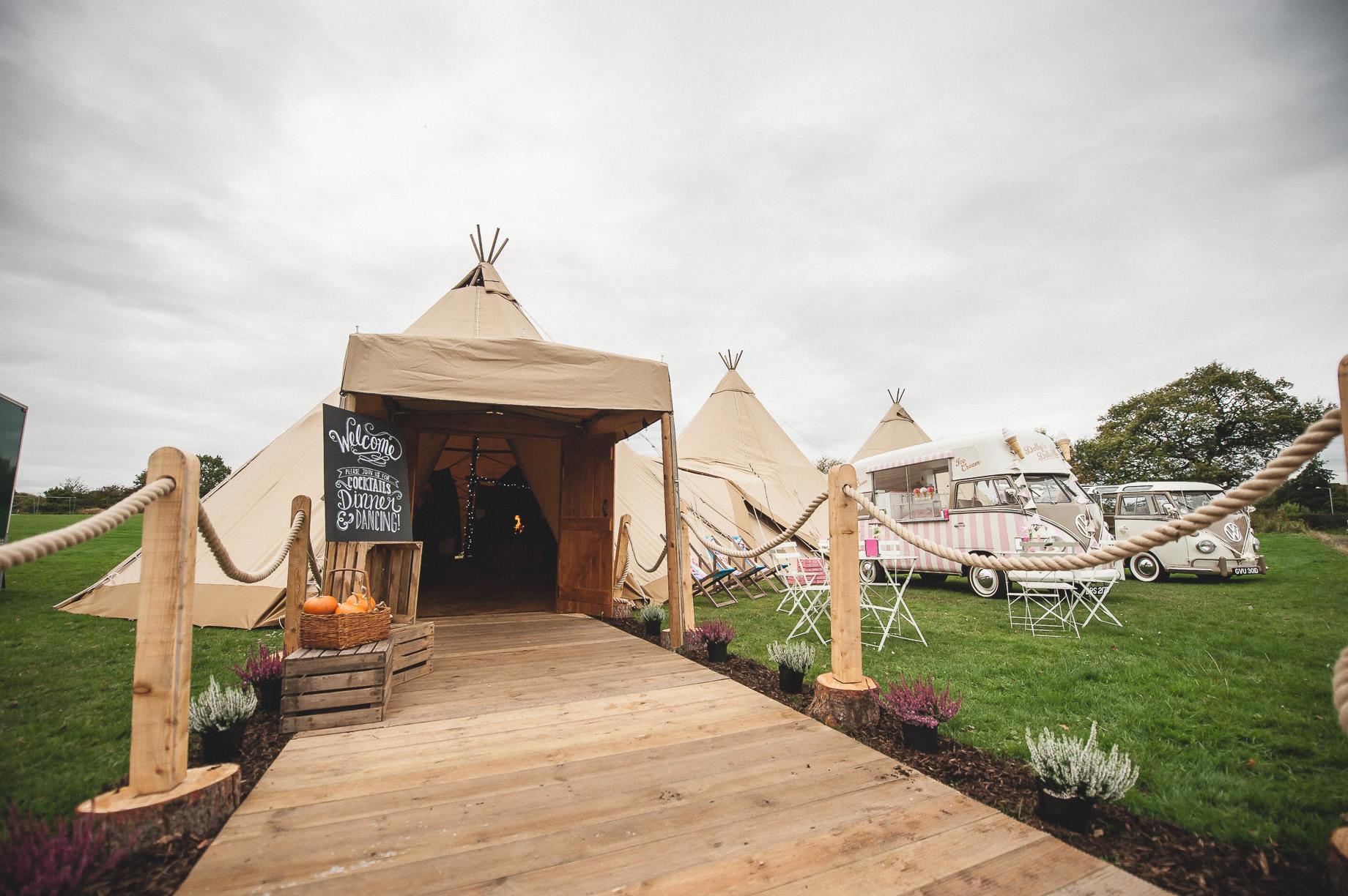 Teepee Tent Hire Open Weekend on Hoghton Cricket Field 001
