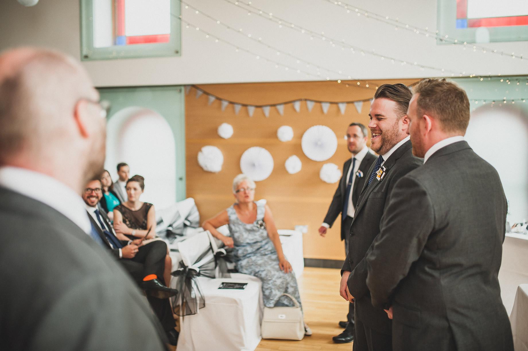 Becky and John's Wedding at Slaidburn Village Hall 071