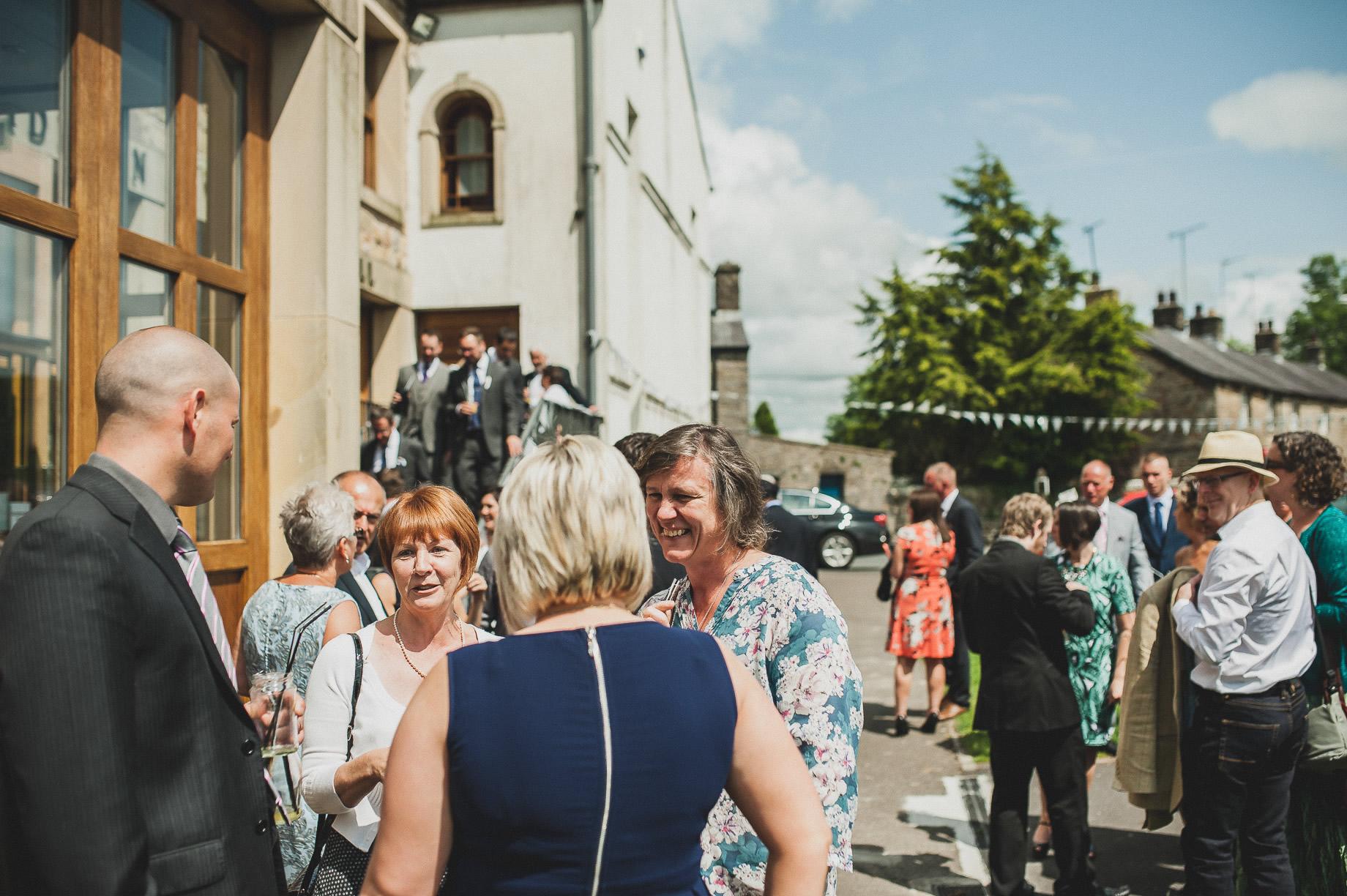 Becky and John's Wedding at Slaidburn Village Hall 100